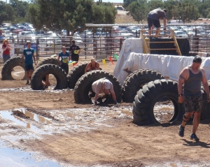 The Last Obstacles in the Mogollon Mudder June 7th, 2014 Photo by Connie Cockrell
