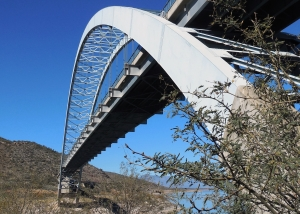 Bridge, Roosevelt Lake, Dam, Hike