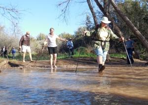 Wading, creek, hiking,