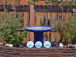 Rainy day, Birdbath, Central Arizona, Connie Cockrell